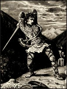 [Illustration: Roland at Roncevalles]